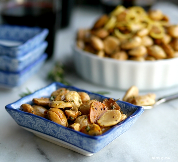 Lemon Pepper Rosemary Almonds Noble Pig side dish