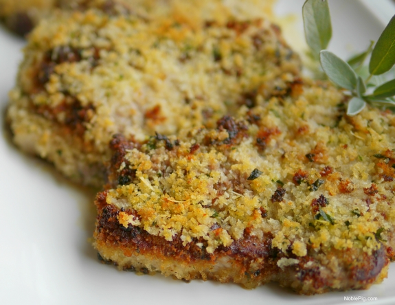 18. Parmesan-Crusted Pork Chops with Buttermilk-Sage Gravy from Noble ...