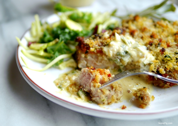 Parm Crusted Pork Chops With Ermilk Sage Gravy