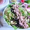Pork Crunch Salad with Strawberry Poppyseed Dressing