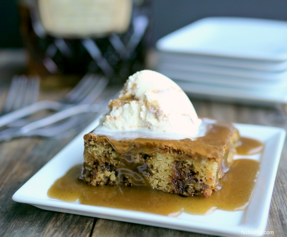 Easy Sticky Toffee Pudding Cake with Boozy Toffee Sauce 1