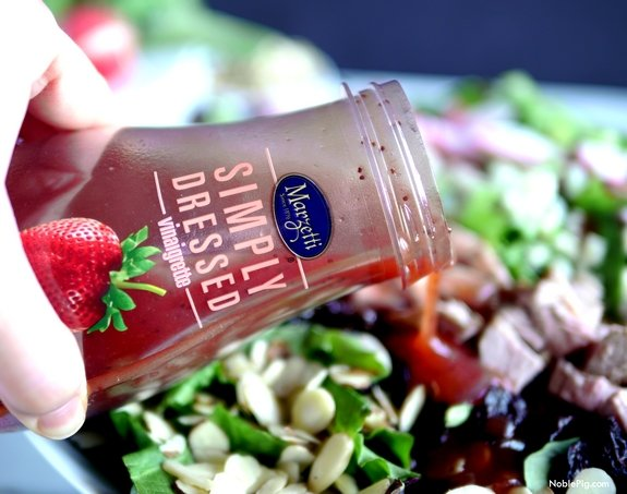 Pork Crunch Salad with Strawberry Poppyseed Dressing 3