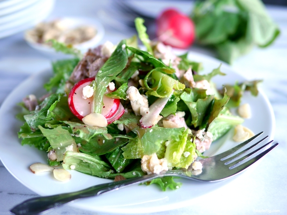 Pork Crunch Salad with Strawberry Poppyseed Dressing 4