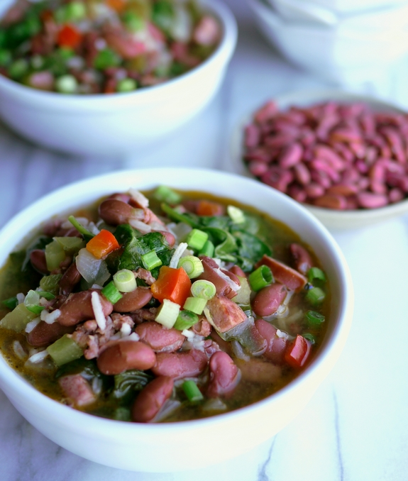 Red Beans Rice and Sausage Soup from Noble Pig