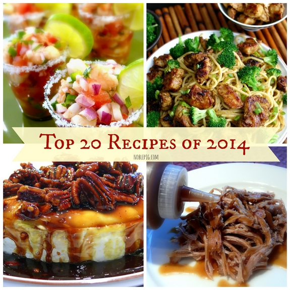 Top 20 Recipes of 2014 Graphic