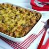 Kielbasa-Bagel Breakfast Casserole