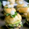 Avocado and Bay Shrimp Sliders with Spicy Mayo