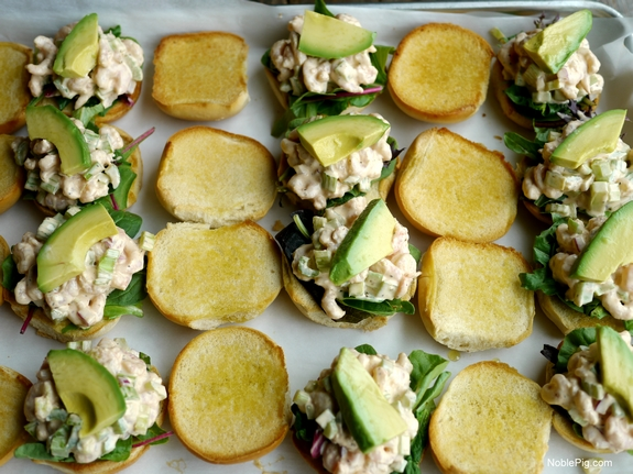 California Avocado and Bay Shrimp Sliders with Spicy Mayo 5