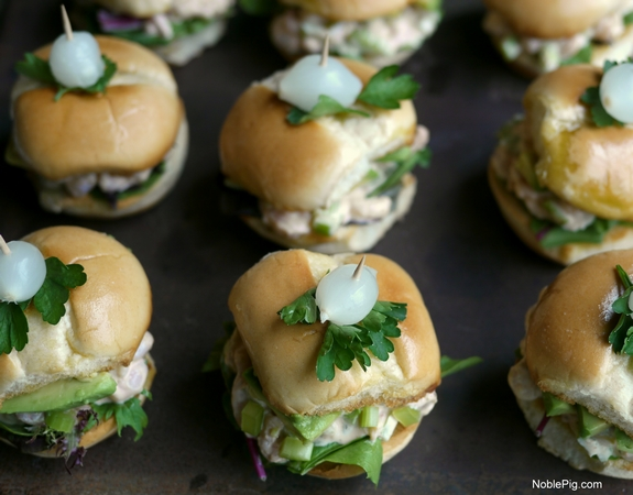 California Avocado and Bay Shrimp Sliders with Spicy Mayo 6