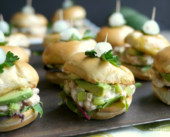 California Avocado and Bay Shrimp Sliders with Spicy Mayo 7