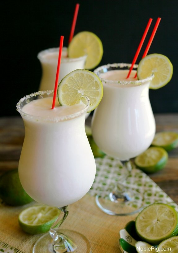 Coconut Lime Frozen Margaritas a taste of summer