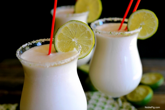 Coconut Lime Frozen Margaritas for your next party