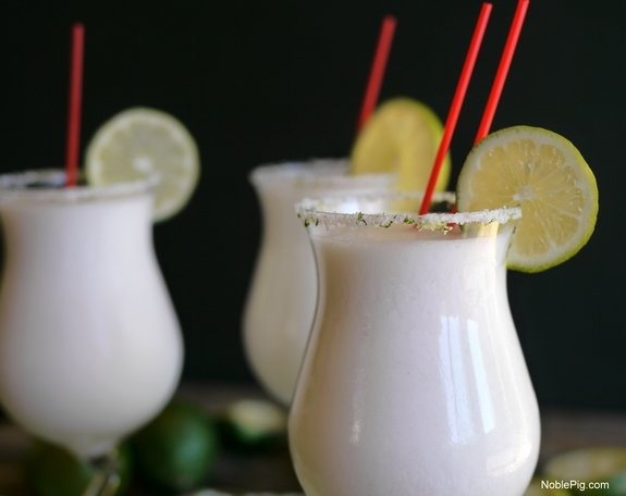 Coconut Lime Frozen Margaritas one sip and youre hooked