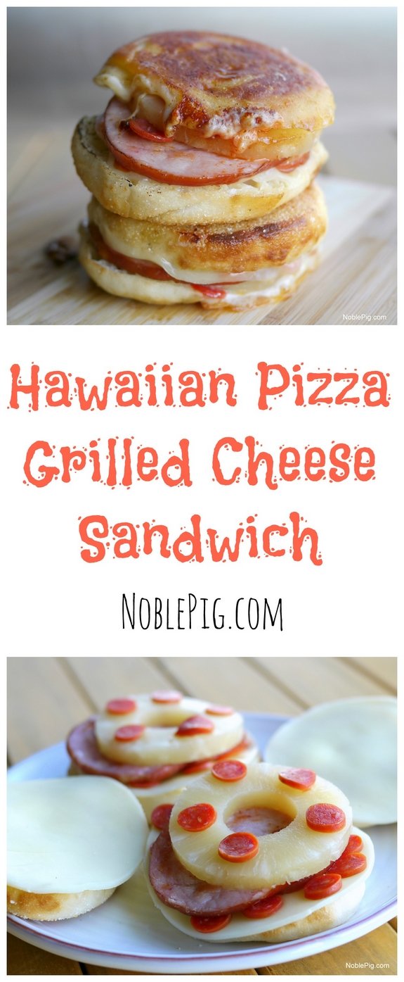 Hawaiian Pizza Grilled Cheese Sandwich its pretty awesome