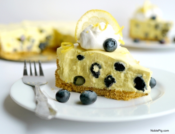 No Bake Creamy Lemon Blueberry Pie 1