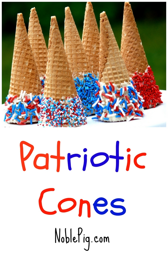 Patriotic Cones perfect for all the Red White and Blue holidays