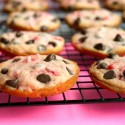 Soft-Baked-Maraschino-Cherry-Chocolate-Chip-Cookies-perfect-for-a-baby-or-bridal-shower.