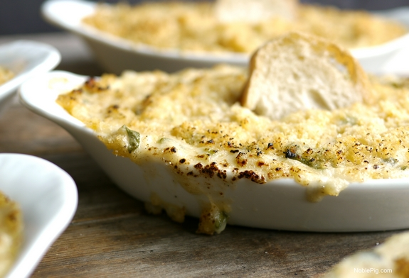 Louisiana Blue Crab Gratin burnt on the edge is always a treat