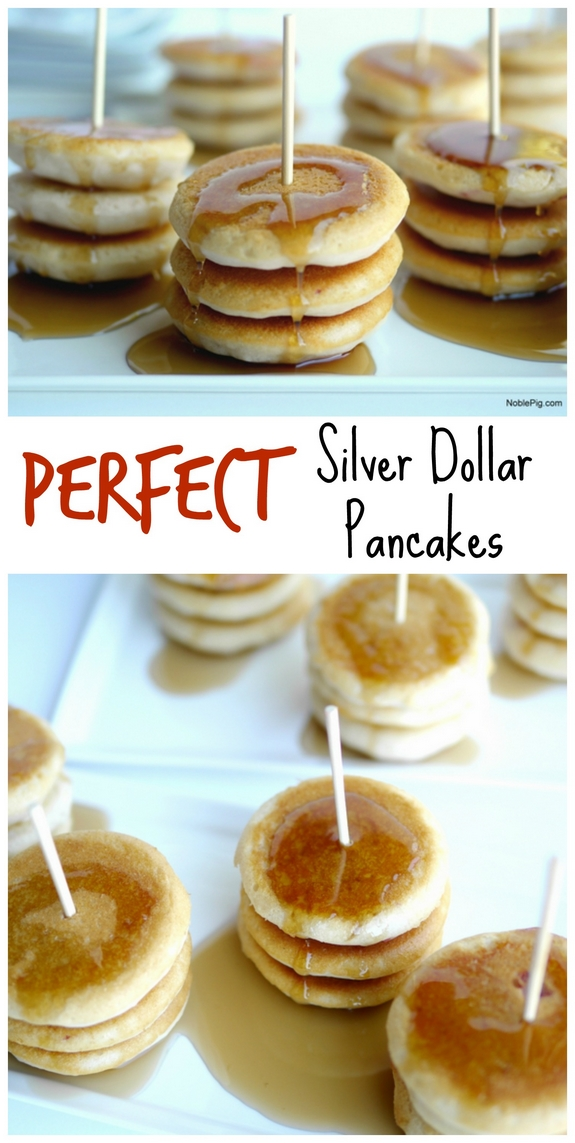 Perfect Silver Dollar Pancakes Collage