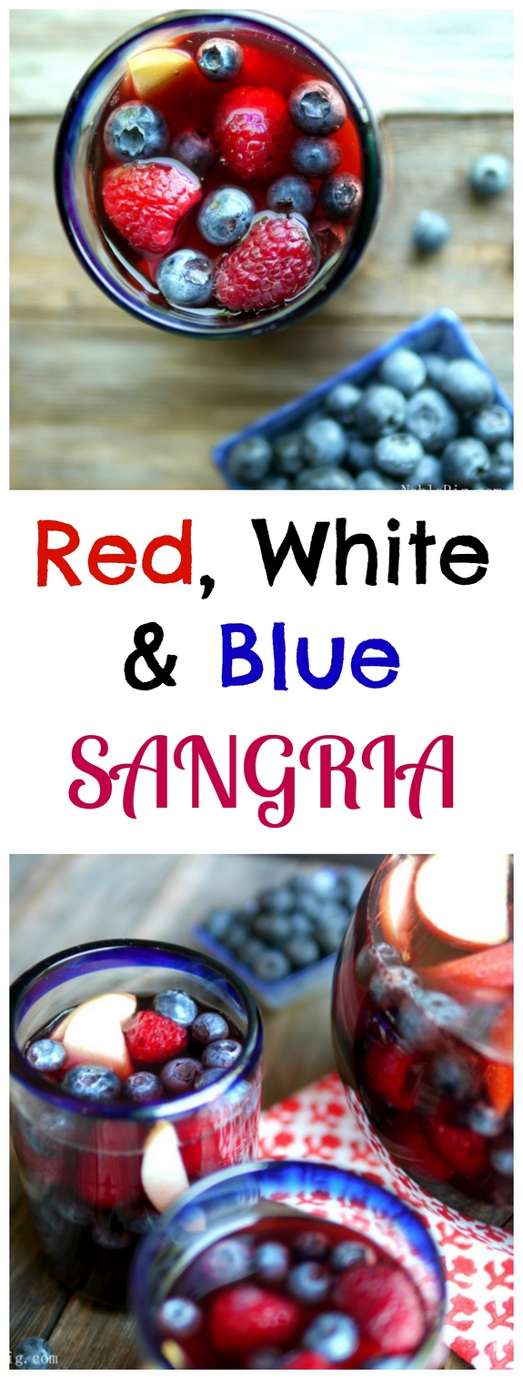 Red White and Blue Sangria a refreshing drink to serve at your next gathering