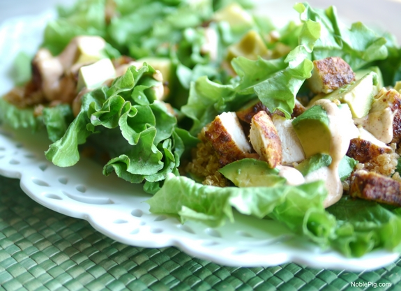 Southwest Chicken Avocado and Quinoa Lettuce Wraps gorgeous meal  Copy
