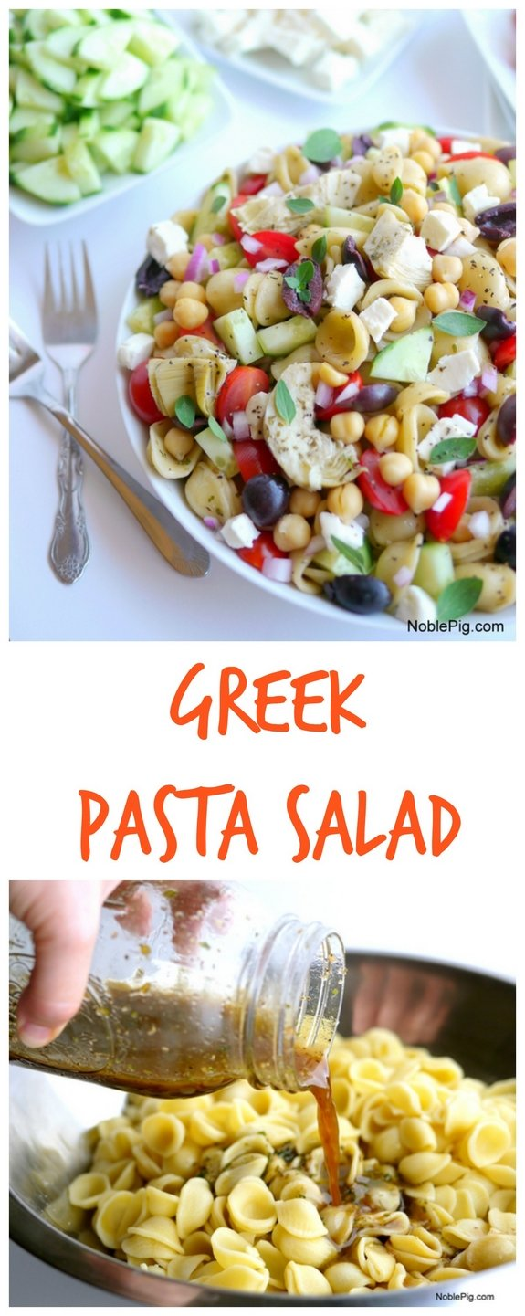 Greek Pasta Salad a delicious side dish