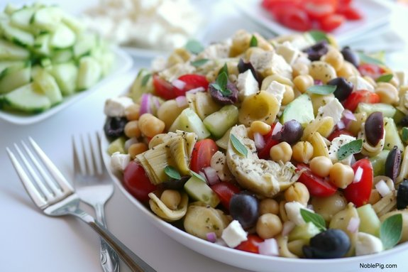 Greek Pasta Salad a family favorite