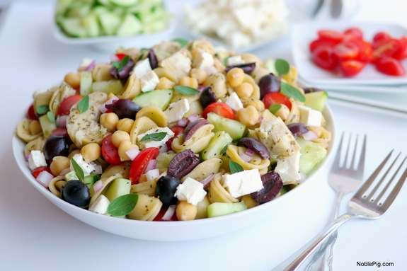 Greek Pasta Salad bursting with flavor