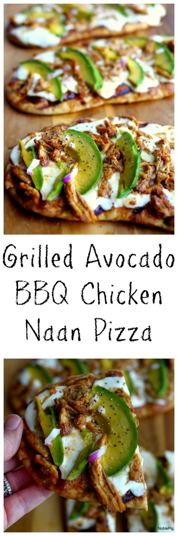 Grilled Avocado Barbecue Chicken Naan Pizza the perfect meal anytime