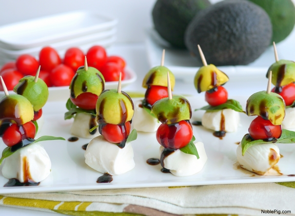 Avocado Caprese Bites the perfect afternoon snack