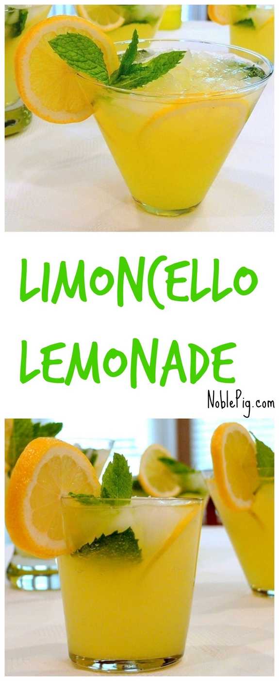 Limoncello Lemonade refreshing and cold and perfect for summer