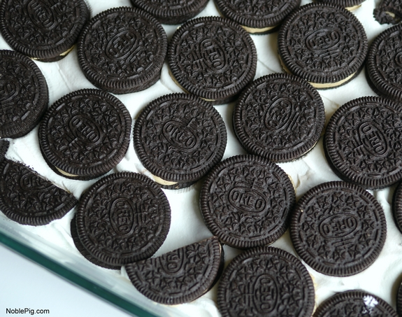 Peanut Butter and Chocolate Icebox Cake Oreos