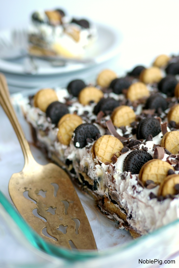 Peanut Butter and Chocolate Icebox Cake everyone will love this very easy to make cake
