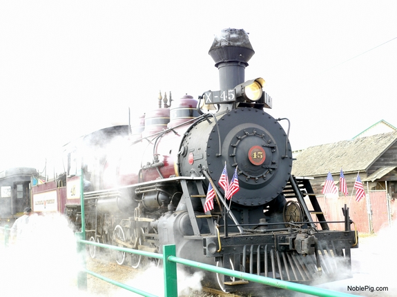Take a ride on the beautiful vintage Skunk Train in Ft Bragg California