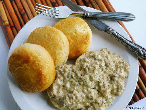 The Best 5 Ingredient Sausage Gravy ready for breakfast