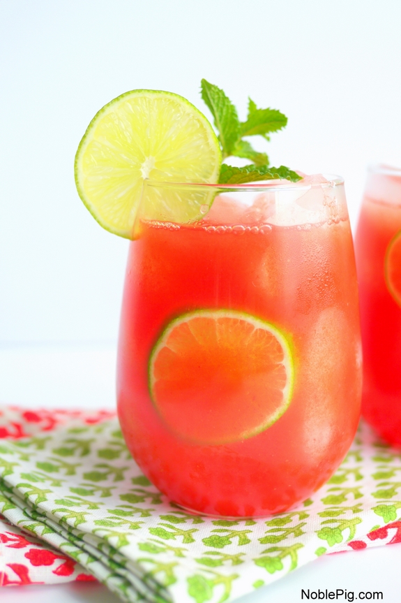 Watermelon Banana Rum Coolers a refreshing cocktail everyone will love