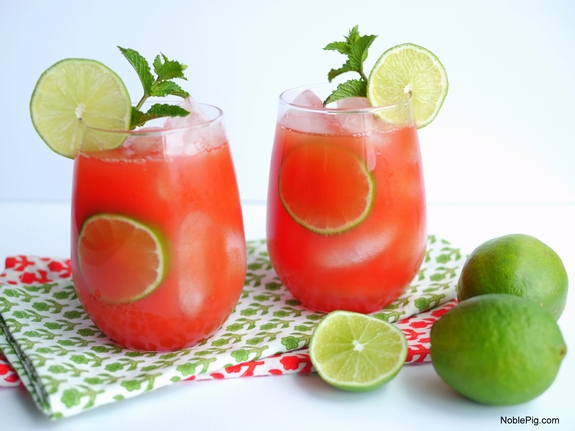 Watermelon Banana Rum Coolers