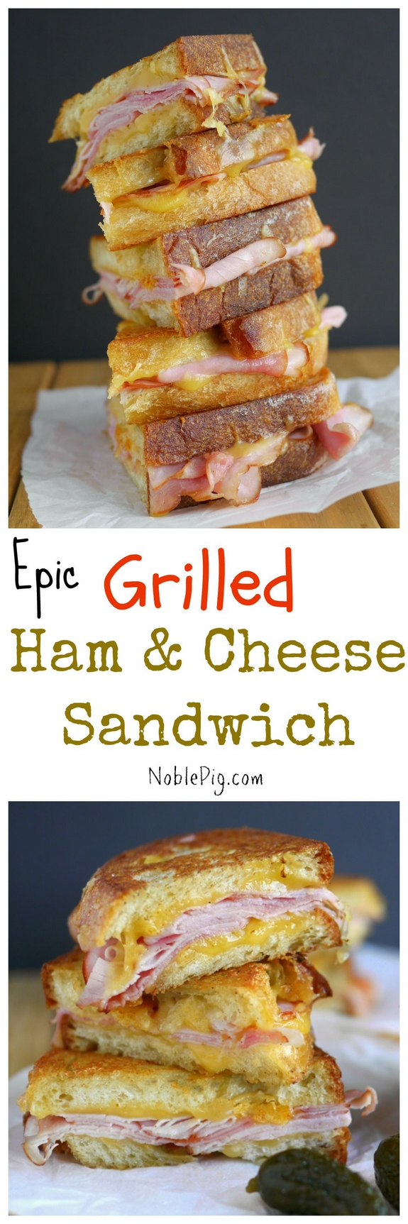 Epic Grilled Ham and Cheese Sandwich