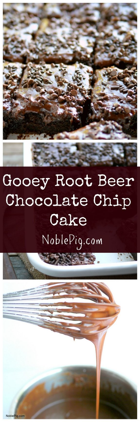 Gooey Root Beer Chocolate Chip Cake from NoblePig
