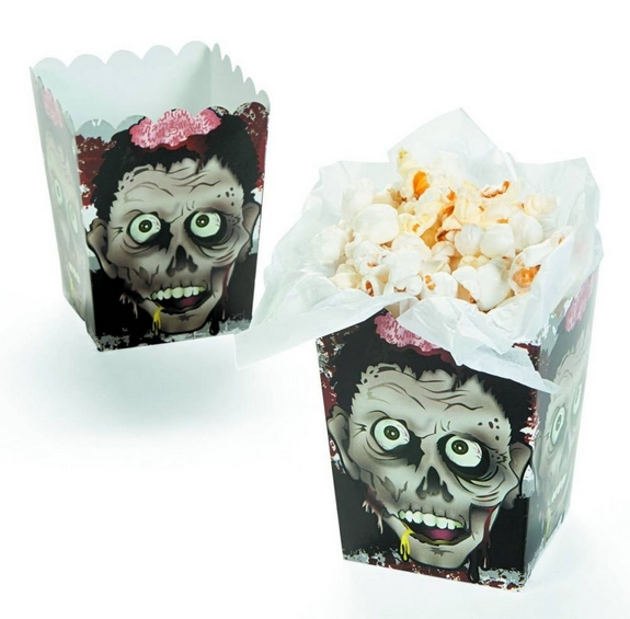Halloween Zombie Head Mini Popcorn Boxes