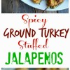 Healthier Spicy Ground Turkey Stuffed Jalapenos