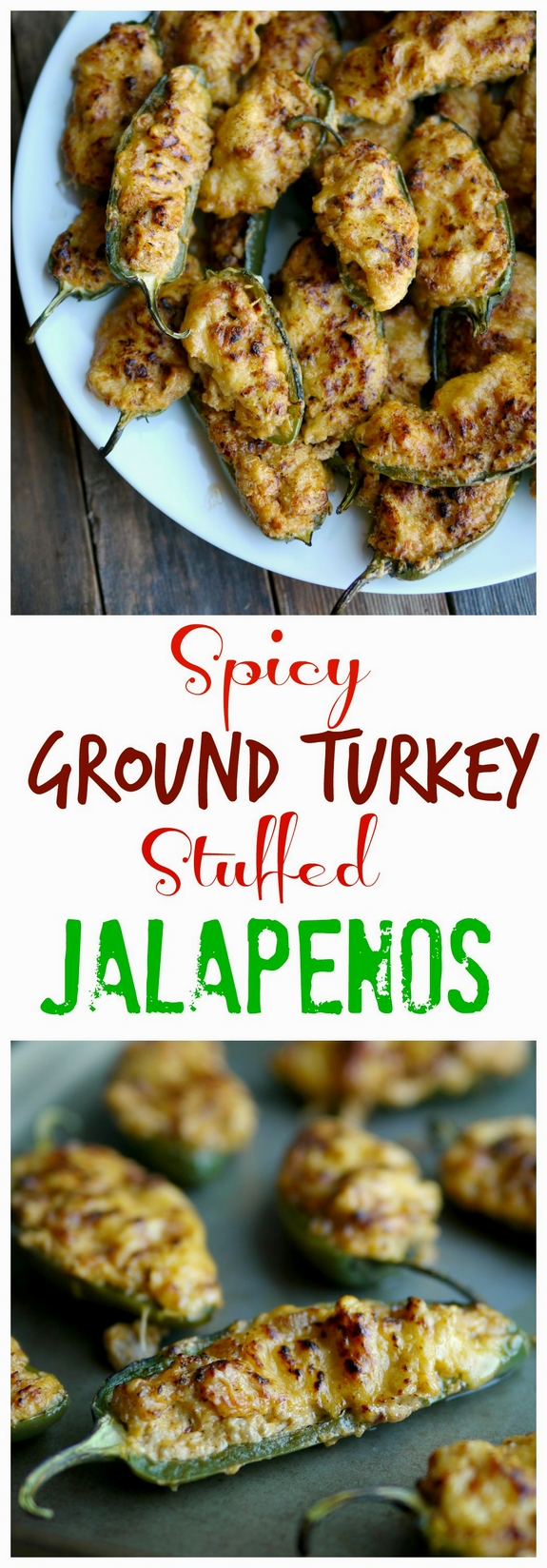 Spicy Ground Turkey Stuffed Jalapenos a perfect game day appetizer GO TEAM