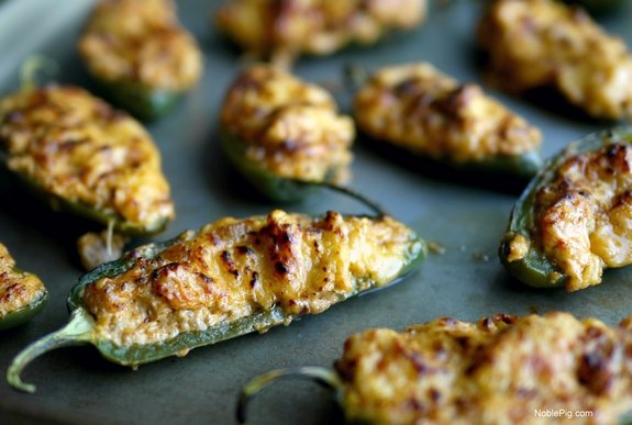 Spicy Ground Turkey Stuffed Jalapenos