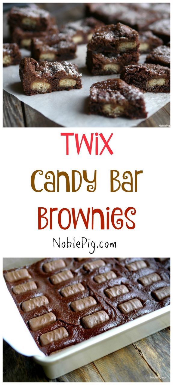 Twix Candy Bar Brownies perfect for satisfying that sweet tooth