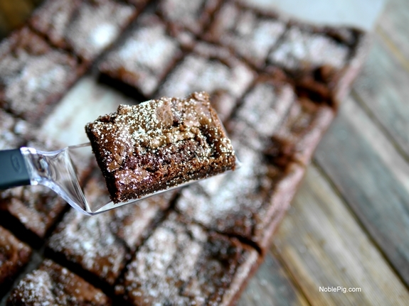 Twix Candy Bar Brownies spatula