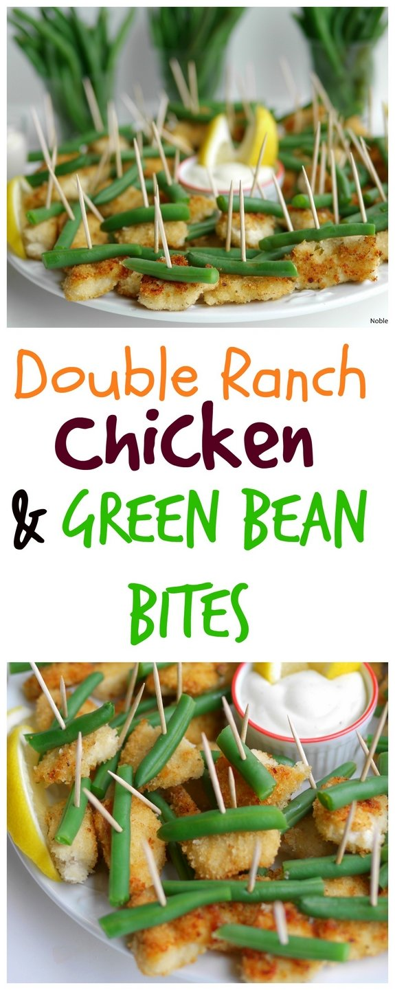 Double Ranch Chicken and Green Bean Bites