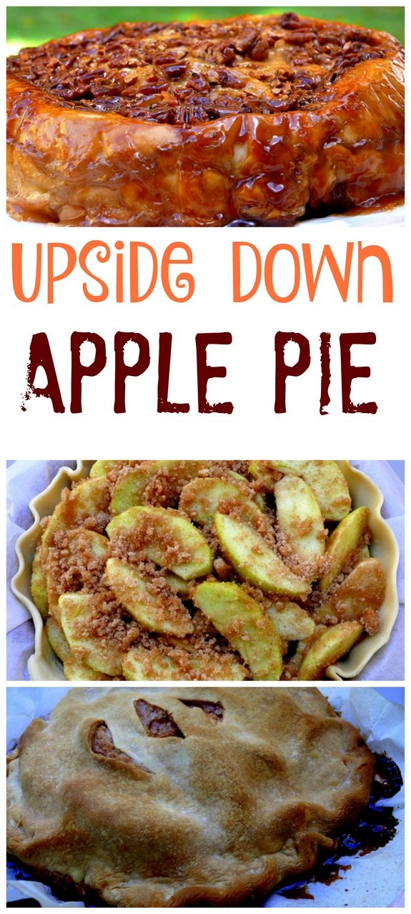 Upside Down Apple Pie is for the pie crust challenged  Just flip it over and you have a beautiful gooey pie