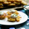 Panko Latkes with Horseradish Sour Cream