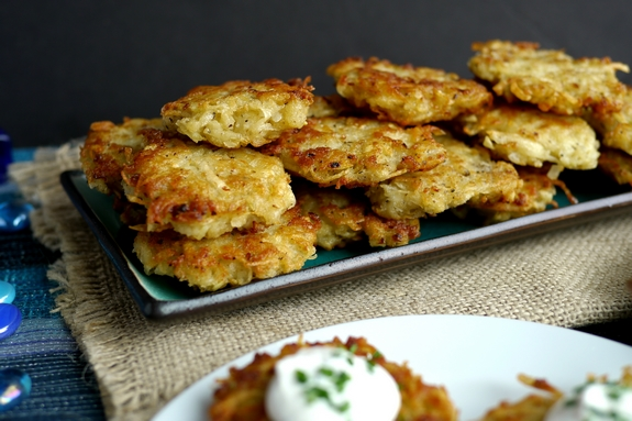Panko Latkes perfect for Hanukkah