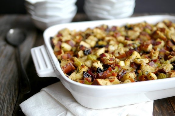 Pretzel Bread Bacon and Apple Stuffing